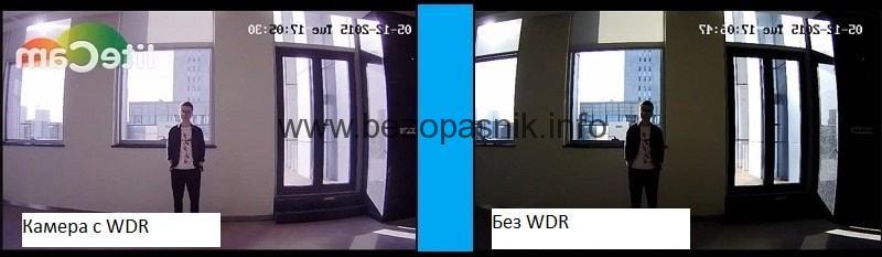 Функция WDR в камерах видеонаблюдения