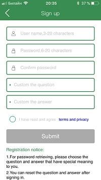 Регистрация AnyCam