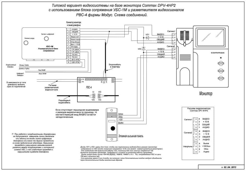Схема подключения блока сопряжения