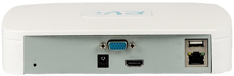 IP видеорегистратор,задняя панель