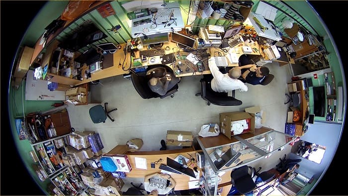Панорамная видеокамера fish eye