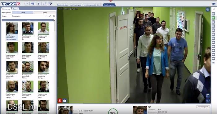 Коммерческая система распознавания лиц в видеонаблюдении.