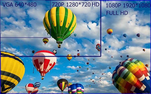разрешение камеры видеонаблюдения расчет
