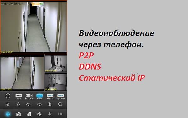 Удаленное видеонаблюдение через телефон