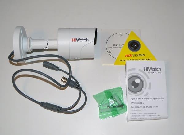 HD-TVI камера видеонаблюдения  HiWatch DS-T200