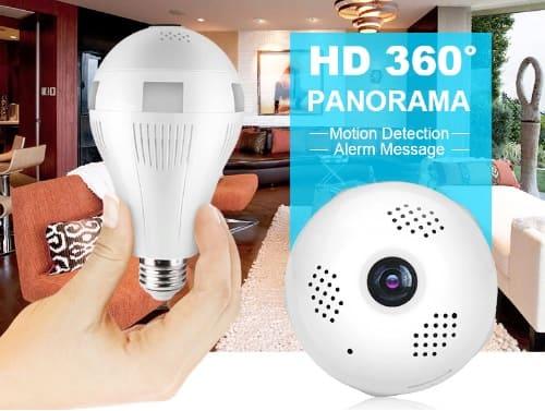 Видеокамера для скрытого видеонаблюдения в форме лампы