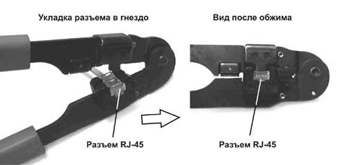 Распиновка коннектора rj45 по цветам