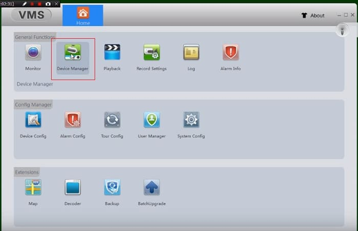 Настройка PC VMS Client