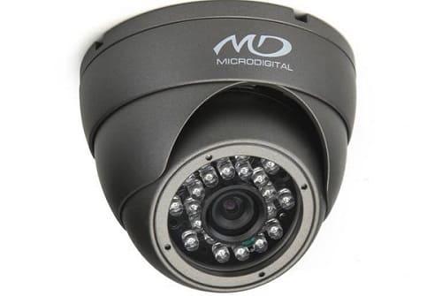 Купольная антивандальная камера с защитным стеклом