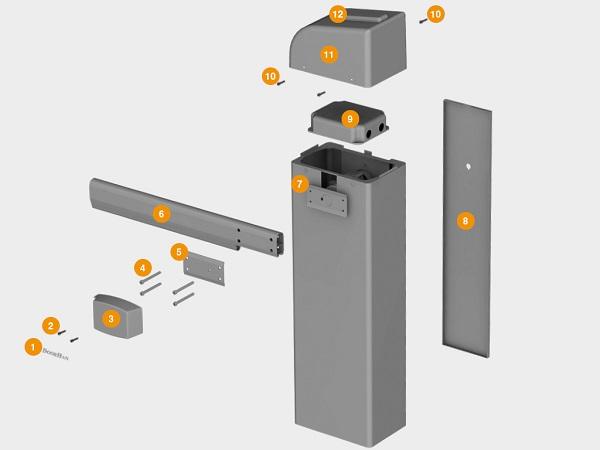 автоматический шлагбаум барьер pro