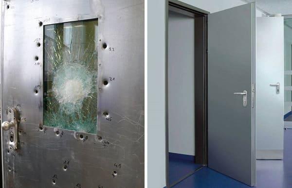 Двери с пуленепробиваемыми свойствами