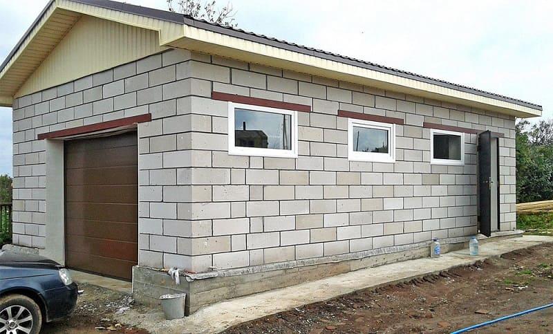 Шлакоблочные гаражи