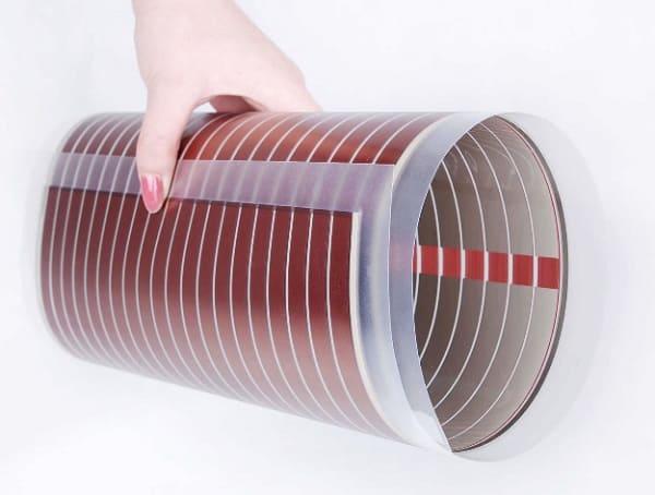 Фото солнечной батареи, способной скручиваться в рулон