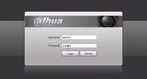 Вход в ip камеру Dahua