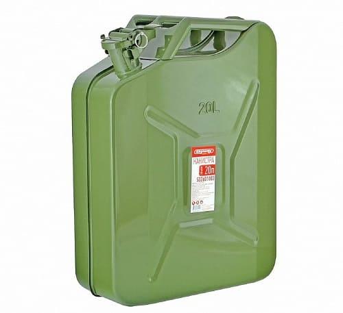 Металлическая канистра для хранения бензина