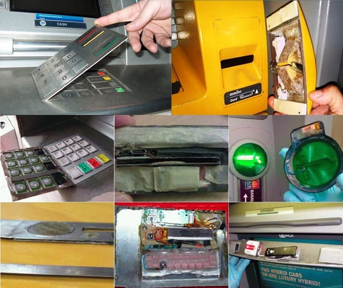 Скримминг накладки на банкомат