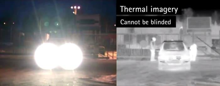 Тепловизионная камера видеонаблюдения - компенсация встречной засветки