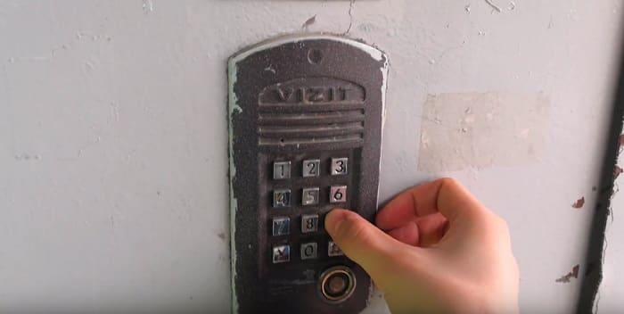 Как открыть домофон Vizit (Визит) без ключа при помощи кода