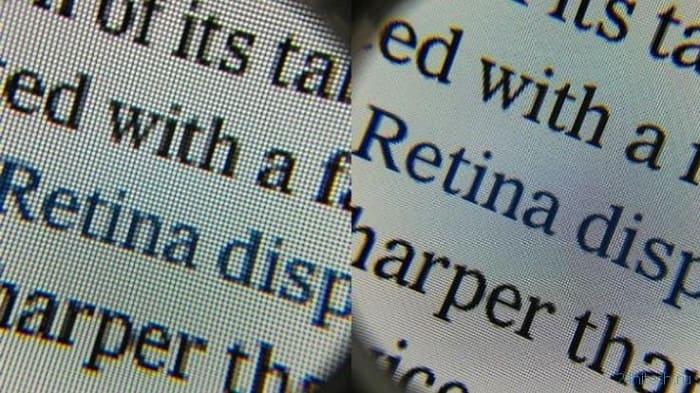 Retina display тест сравнение