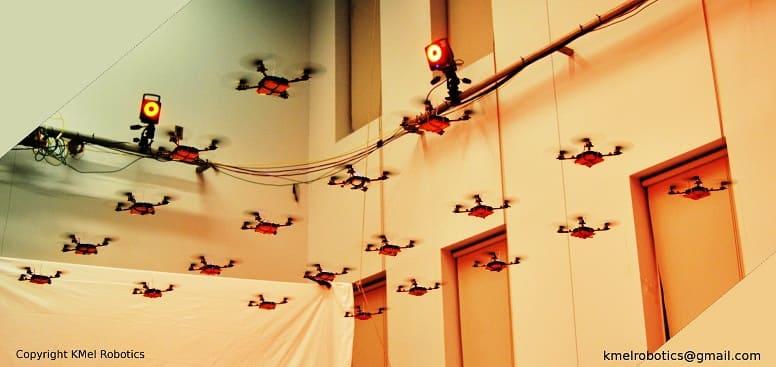 летательные рой роботы