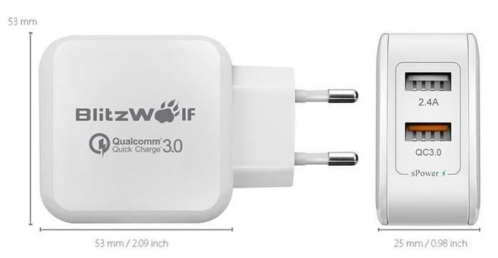 Blitzwolf QC 3.0 30W – компактное зарядное устройство для телефона