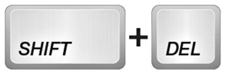 Shift + Delete удаляет файлы навсегда