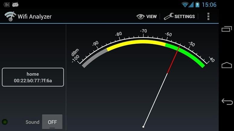 Мощность сигнала Wi-Fi Analyzer