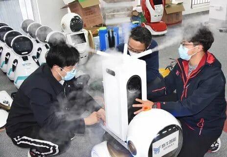Робот для борьбы с вирусом