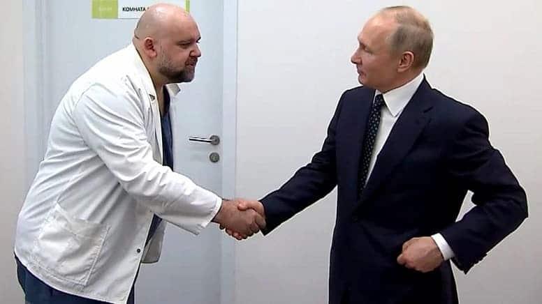Путин самоизолируется после рукопожатия с инфицированным врачом в московской больнице