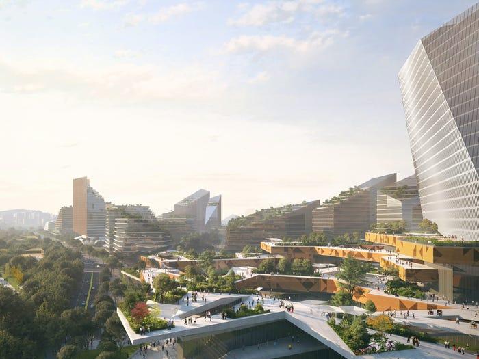 Начал строиться смарт-город будущего без автомобилей - Net City