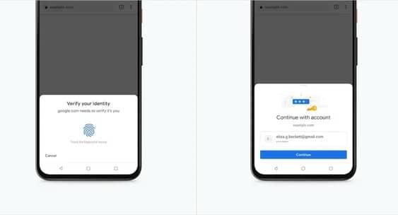 Google Chrome позволит подтверждать платежи с помощью биометрической аутентификации