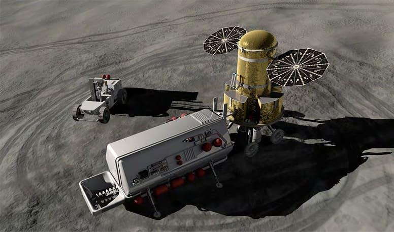 Добыча ресурсов на луне