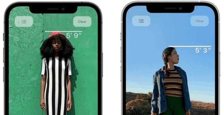 У камеры iPhone 12 есть интересная особенность. LiDAR позволяет измерять рост.