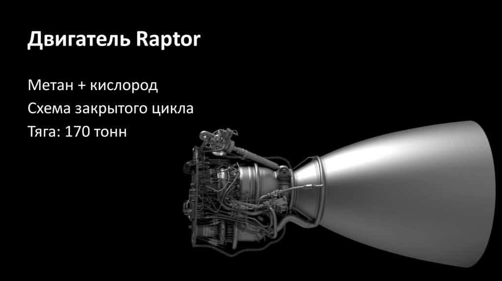двигателями Raptor