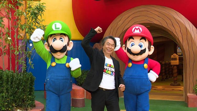 Сигэру Миямото из Nintendo провел видео-тур по парку Super Nintendo World.