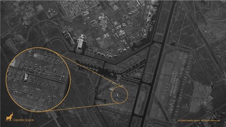 Шпионский спутник Capella-2 делает четкие снимки независимо от погоды или условий освещения.