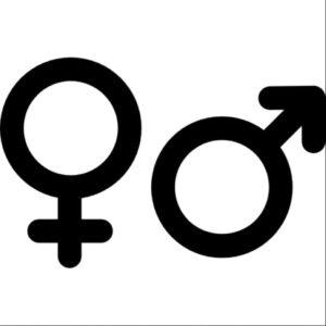 Символы мужского и женского пола