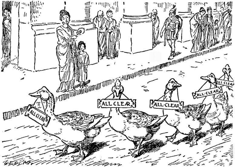 Говорящие гуси, спасшие Рим