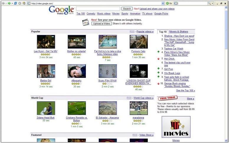 Google Video - первый конкурент YouTube
