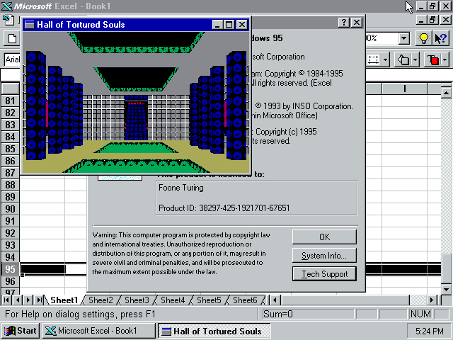 Hall of Tortured Souls в Microsoft Office