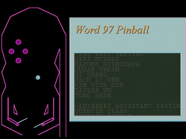Pinball в Word 97