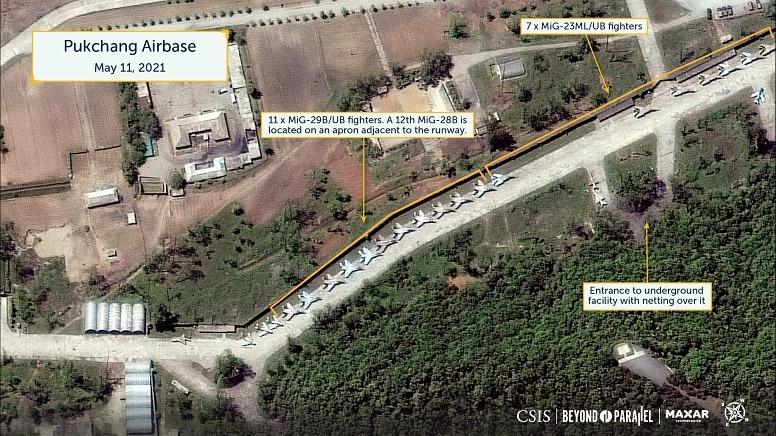 Судя по спутниковым снимкам, Северная Корея расширяет свою авиабазу.