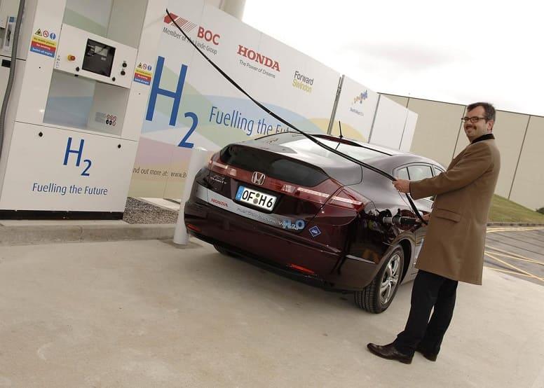 заправка машины водородом