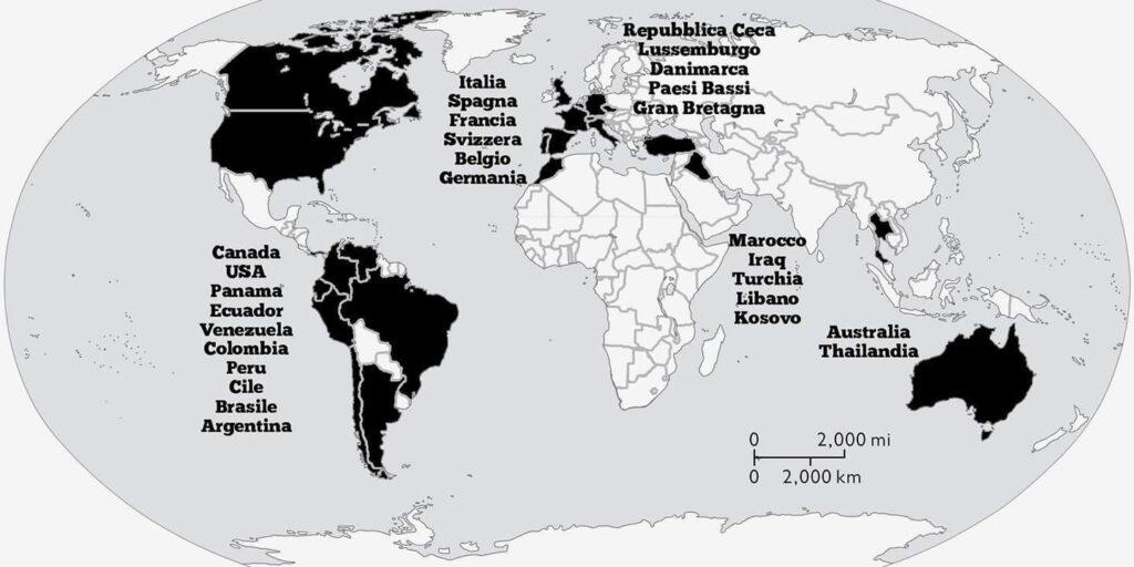 Распространение Ндрангеты по миру